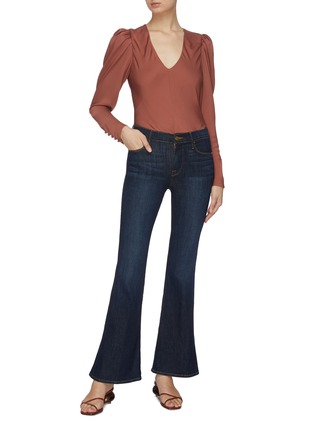 Figure View - Click To Enlarge - FRAME DENIM - 'Le Pixie High Flare' jeans