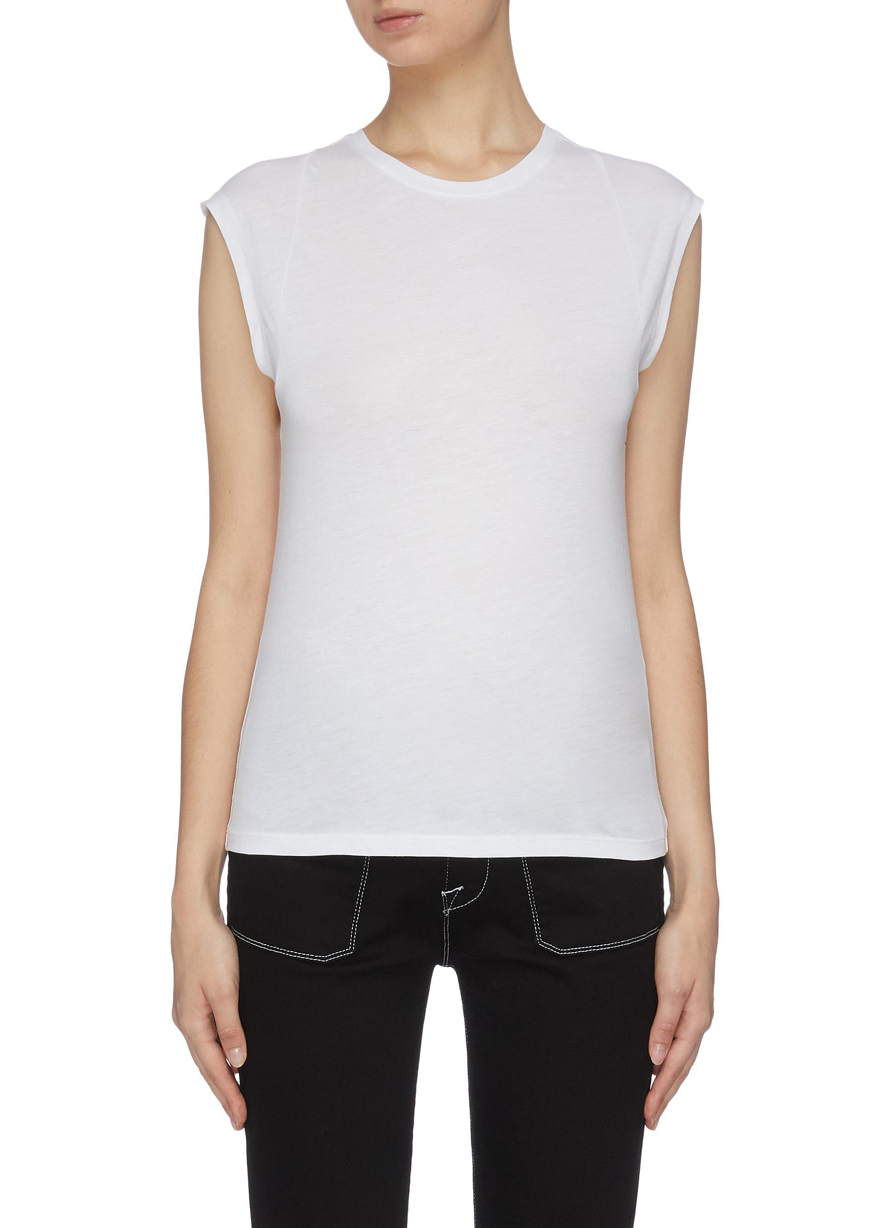 Buy Frame Denim Tops 'Muscle' Mid rise T-shirt