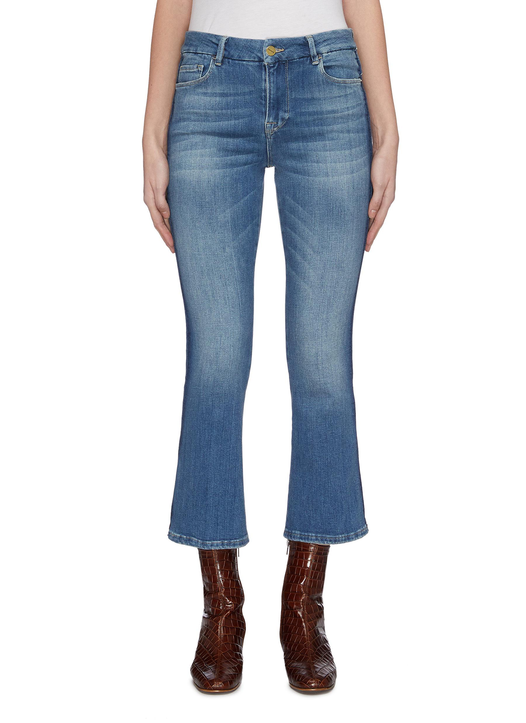 Buy Frame Denim Jeans 'Le Crop' stripe outseam flared jeans
