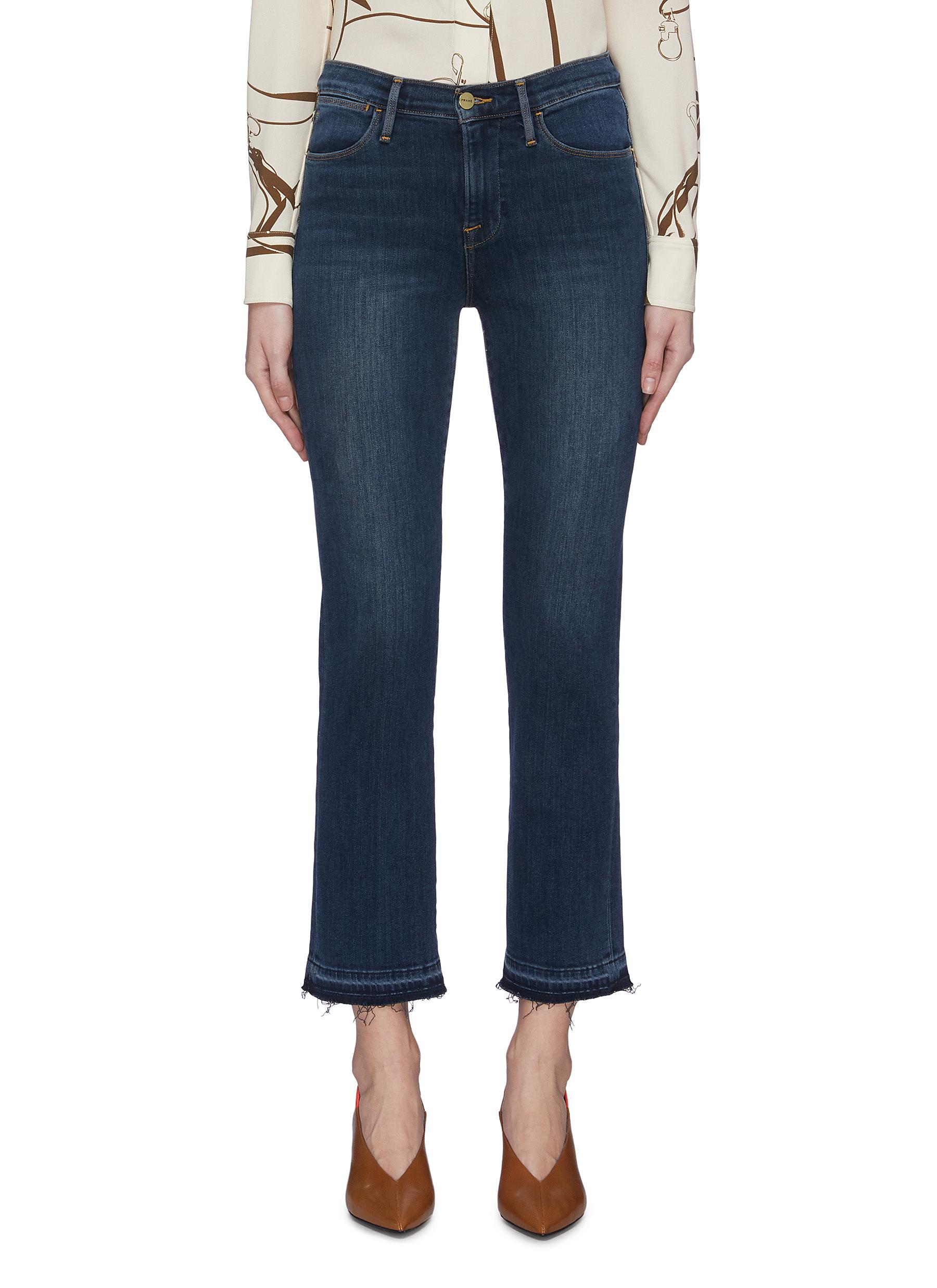 Buy Frame Denim Jeans 'Le High Straight' released raw hem jeans