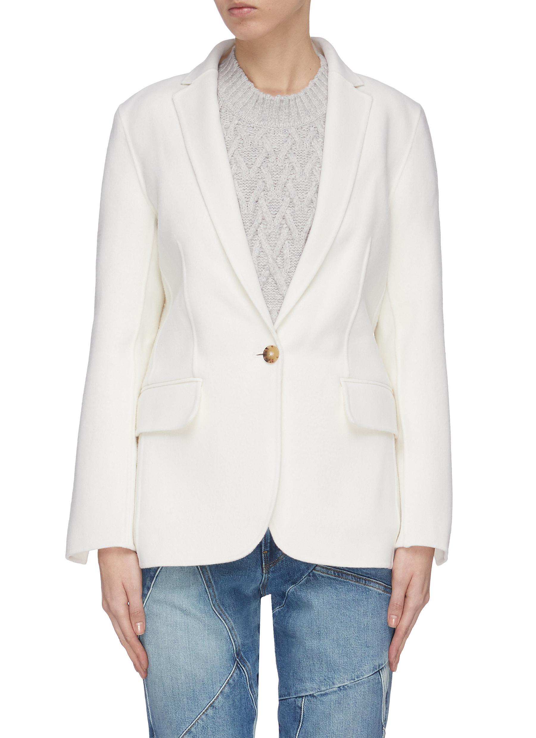 shop Frame Denim Wool cashmere boyfriend blazer online