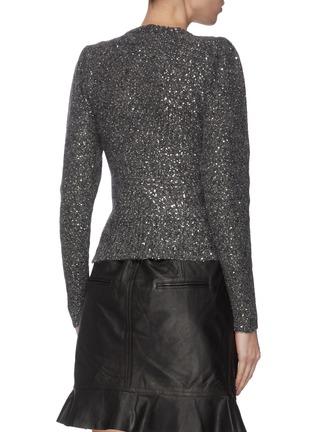 Back View - Click To Enlarge - FRAME DENIM - Sequin crewneck sweater