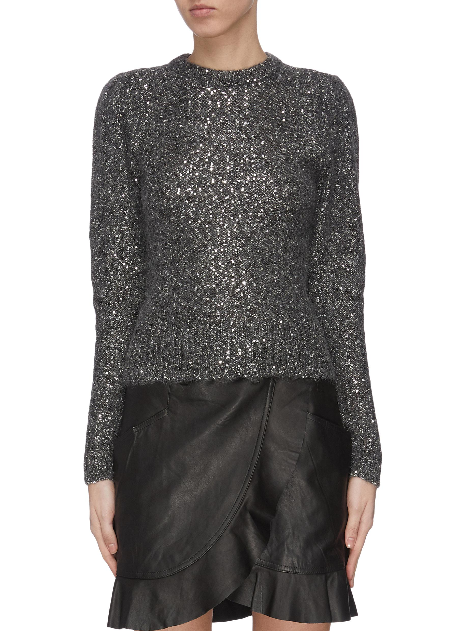 shop Frame Denim Sequin crewneck sweater online