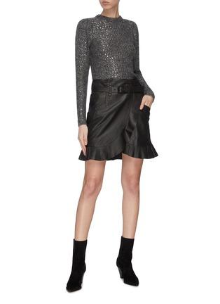 Figure View - Click To Enlarge - FRAME DENIM - Sequin crewneck sweater