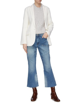 Figure View - Click To Enlarge - FRAME DENIM - 'Le Sylvie' patchwork flared jeans