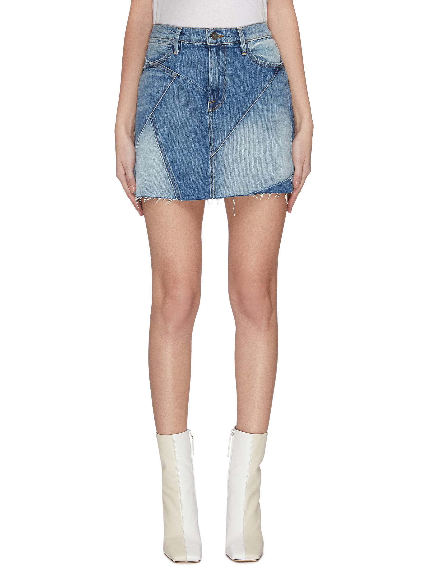 shop Frame Denim Patchwork mini skirt online