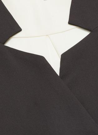 - FRAME DENIM - Tuxedo notch collar silk blouse