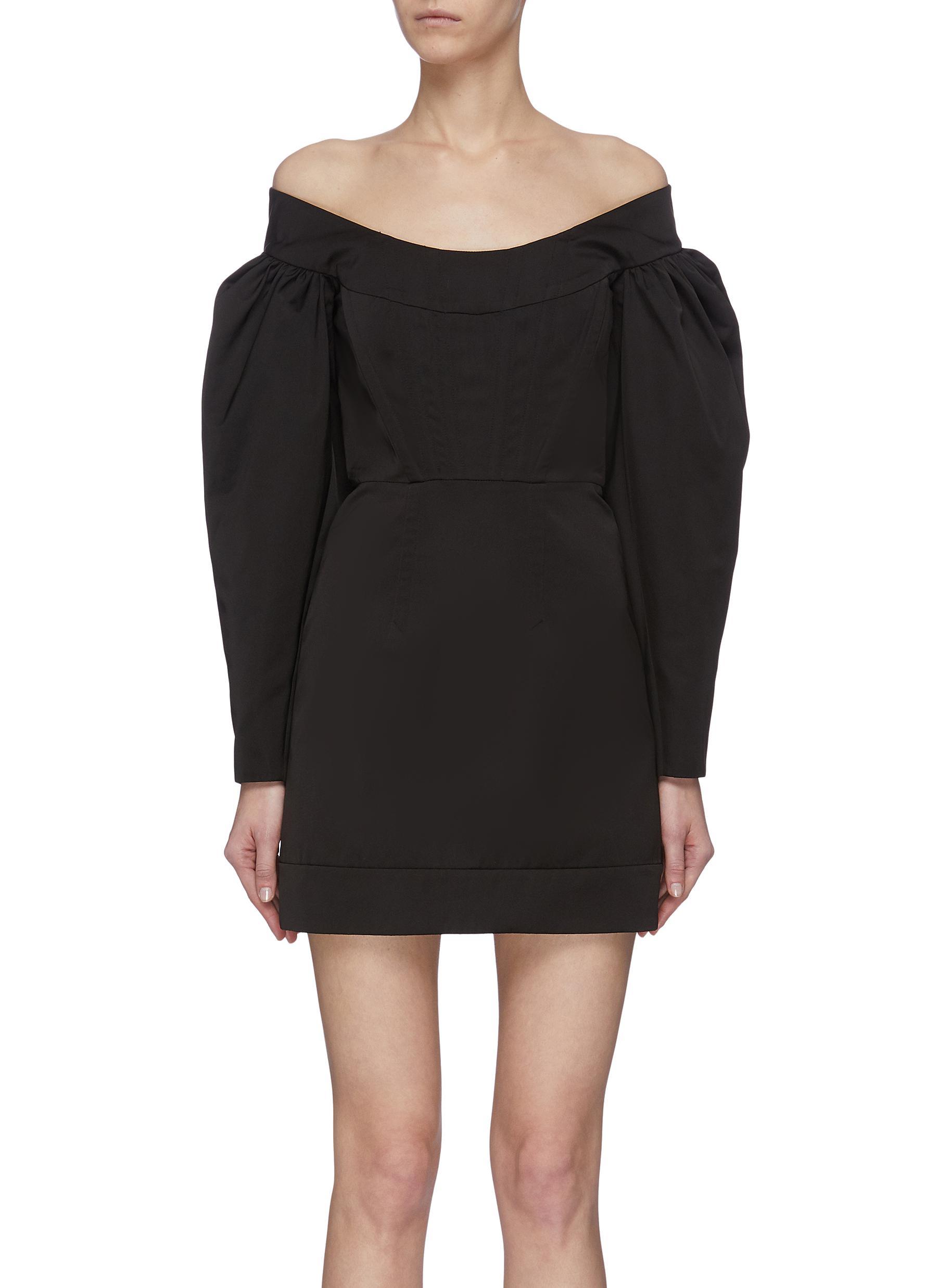 shop Dion Lee Off shoulder cinched mini dress online