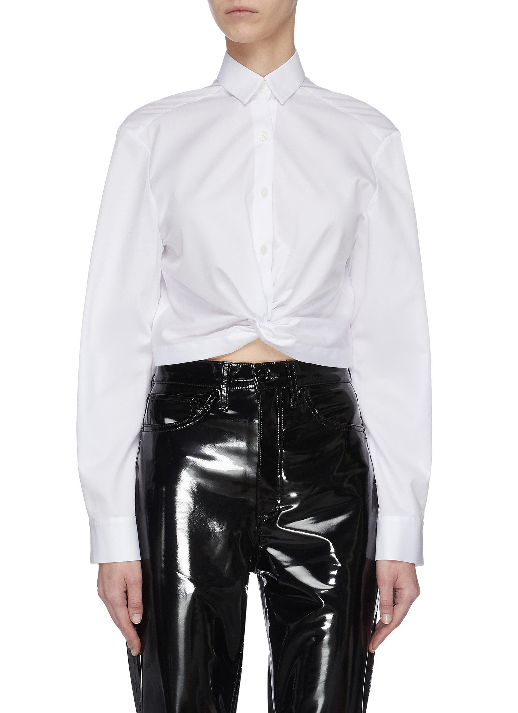 shop Dion Lee Knotted Waist Blouse online