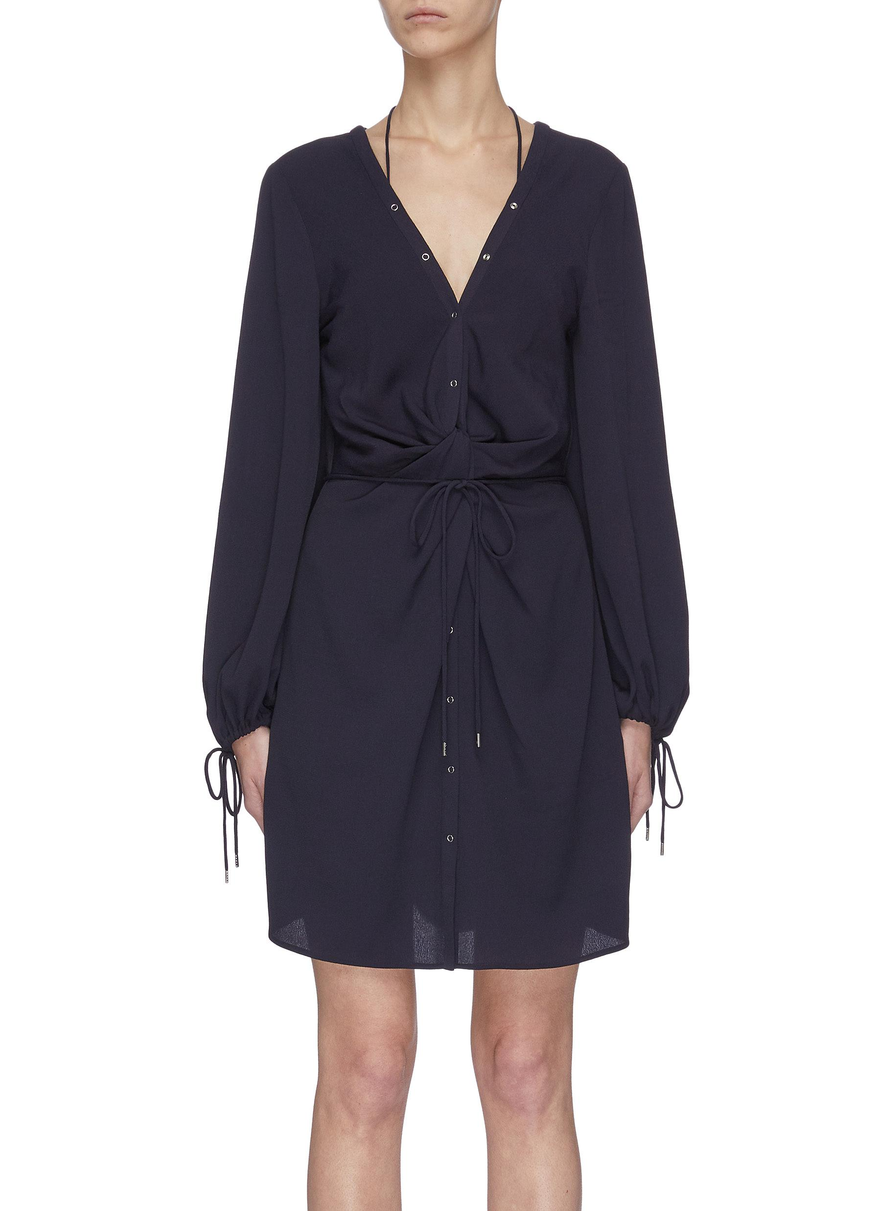 shop Dion Lee Knotted Waist Tunic Dress online