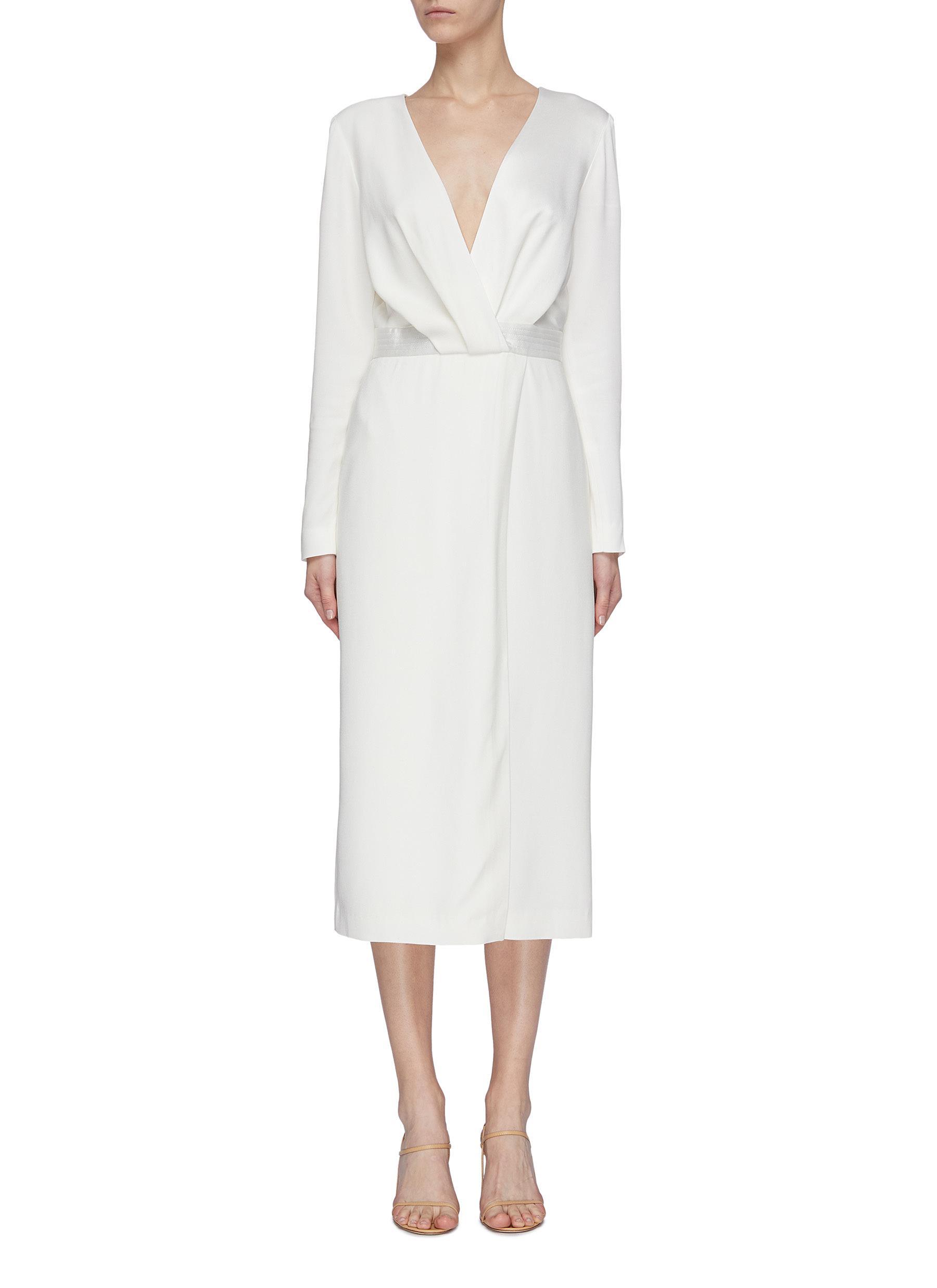 shop Dion Lee V neck pivot drape dress online