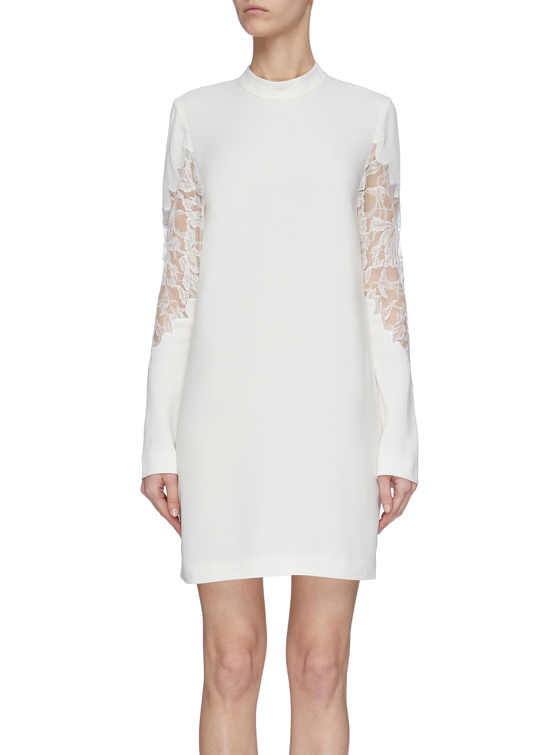 shop Dion Lee Lace panel mini dress online