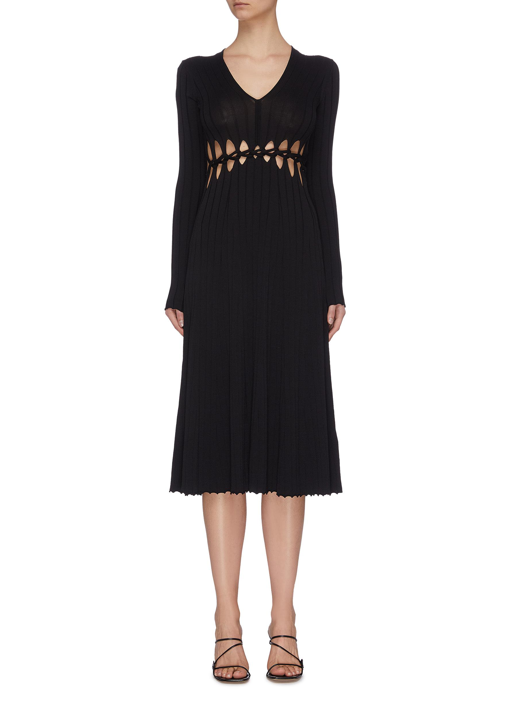 shop Dion Lee Loop braid cutout midi dress online