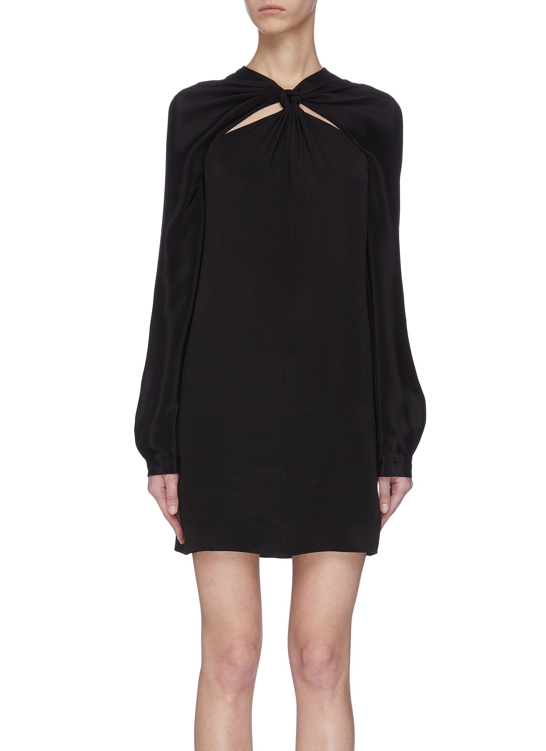 shop Dion Lee Knotted yoke silk dress online