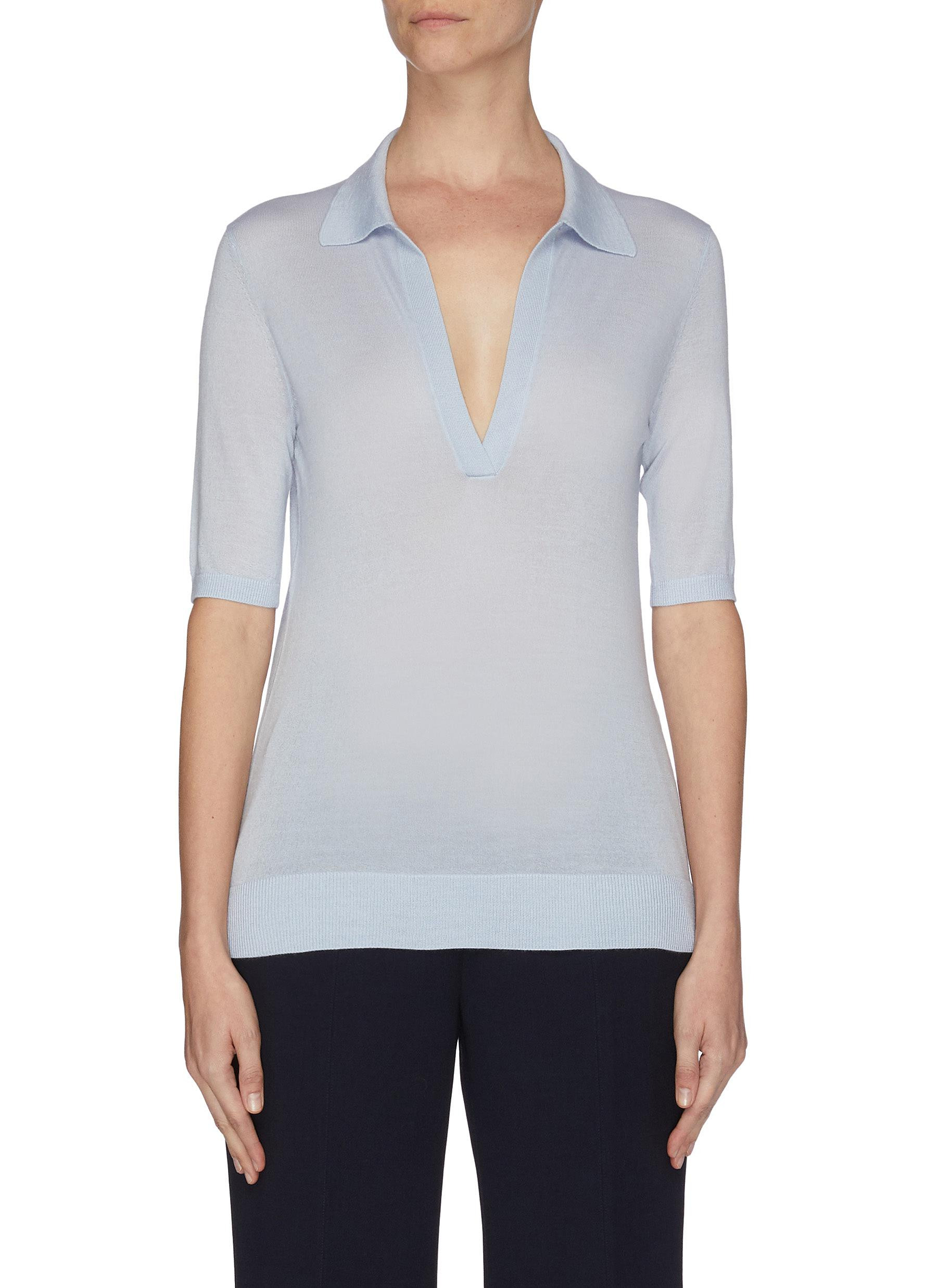 Buy Gabriela Hearst Knitwear V-neck cashmere-silk blend knit top
