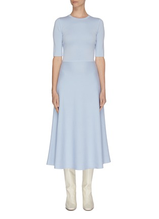 Main View - Click To Enlarge - GABRIELA HEARST - Wool-cashmere blend knit dress
