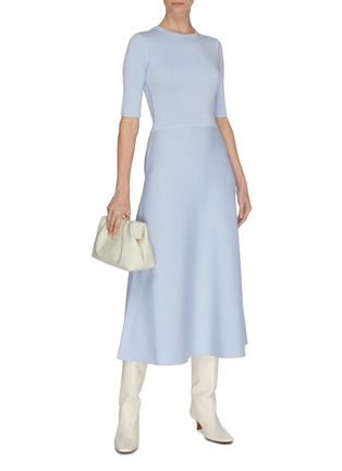 Figure View - Click To Enlarge - GABRIELA HEARST - Wool-cashmere blend knit dress