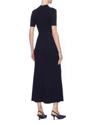 Back View - Click To Enlarge - GABRIELA HEARST - 'Clare' mock neck wool knit dress
