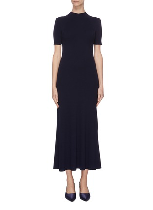 Main View - Click To Enlarge - GABRIELA HEARST - 'Clare' mock neck wool knit dress
