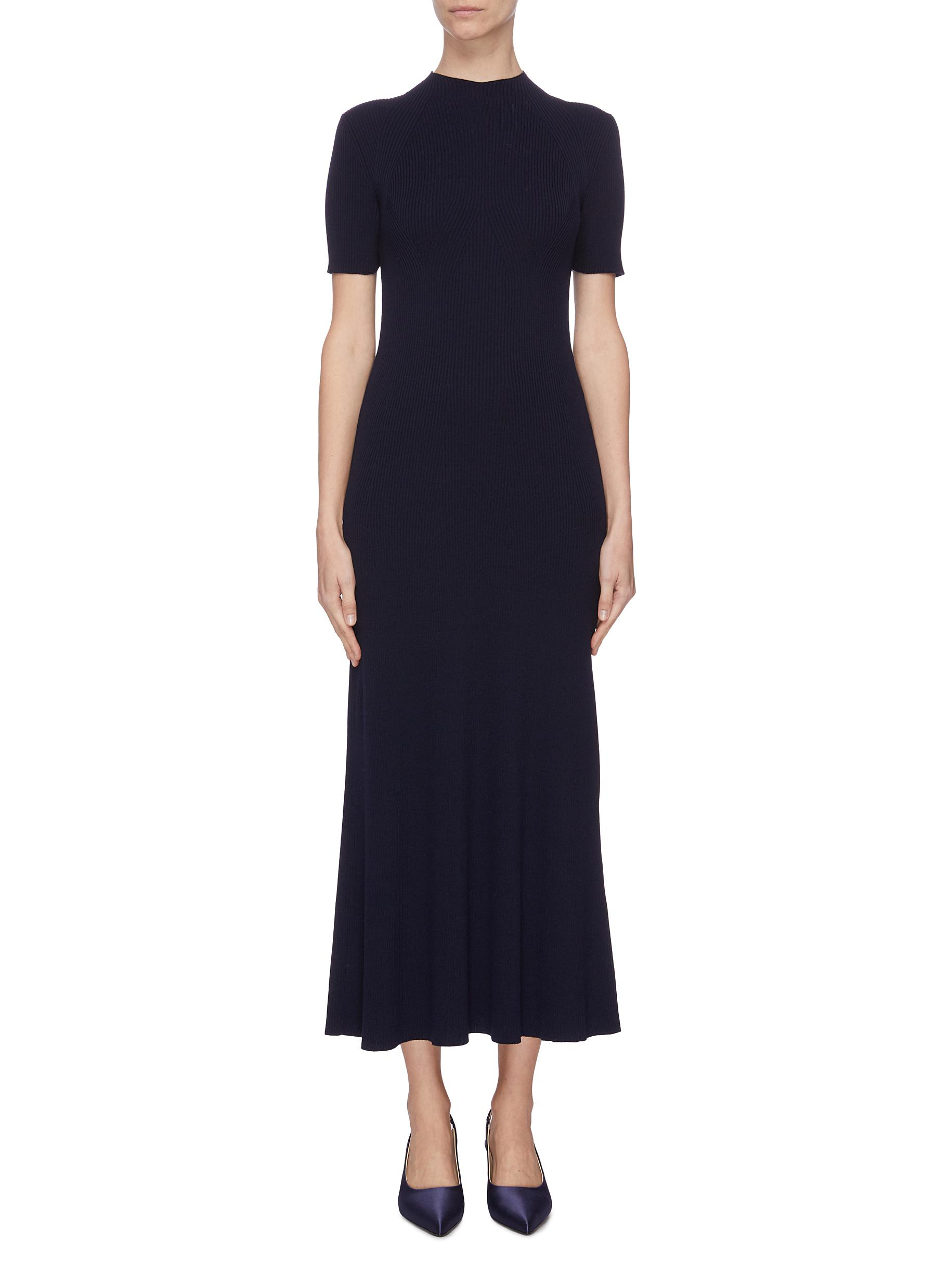 Buy Gabriela Hearst Dresses 'Clare' mock neck wool knit dress