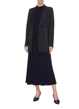 Figure View - Click To Enlarge - GABRIELA HEARST - 'Clare' mock neck wool knit dress