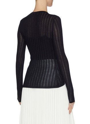 Back View - Click To Enlarge - GABRIELA HEARST - 'Collins' cashmere-silk blend rib knit top