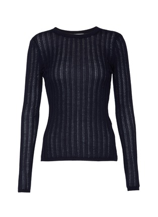 Main View - Click To Enlarge - GABRIELA HEARST - 'Collins' cashmere-silk blend rib knit top