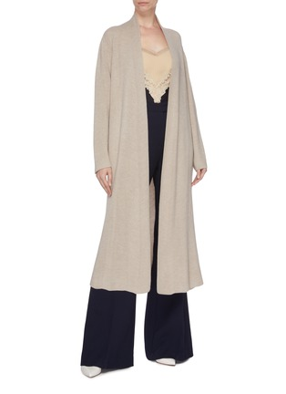 Figure View - Click To Enlarge - GABRIELA HEARST - 'Llorona' cashmere open cardigan