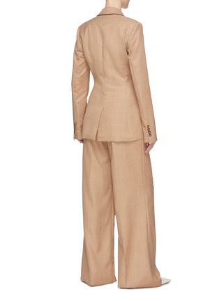 Back View - Click To Enlarge - GABRIELA HEARST - 'Grant' knot drape front blazer