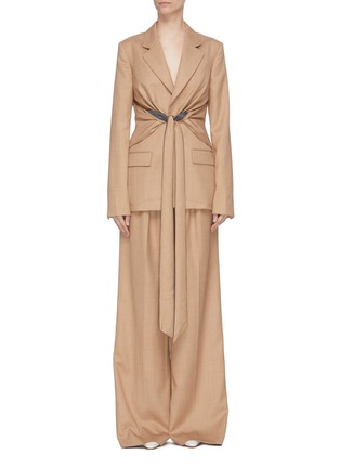 Main View - Click To Enlarge - GABRIELA HEARST - 'Grant' knot drape front blazer