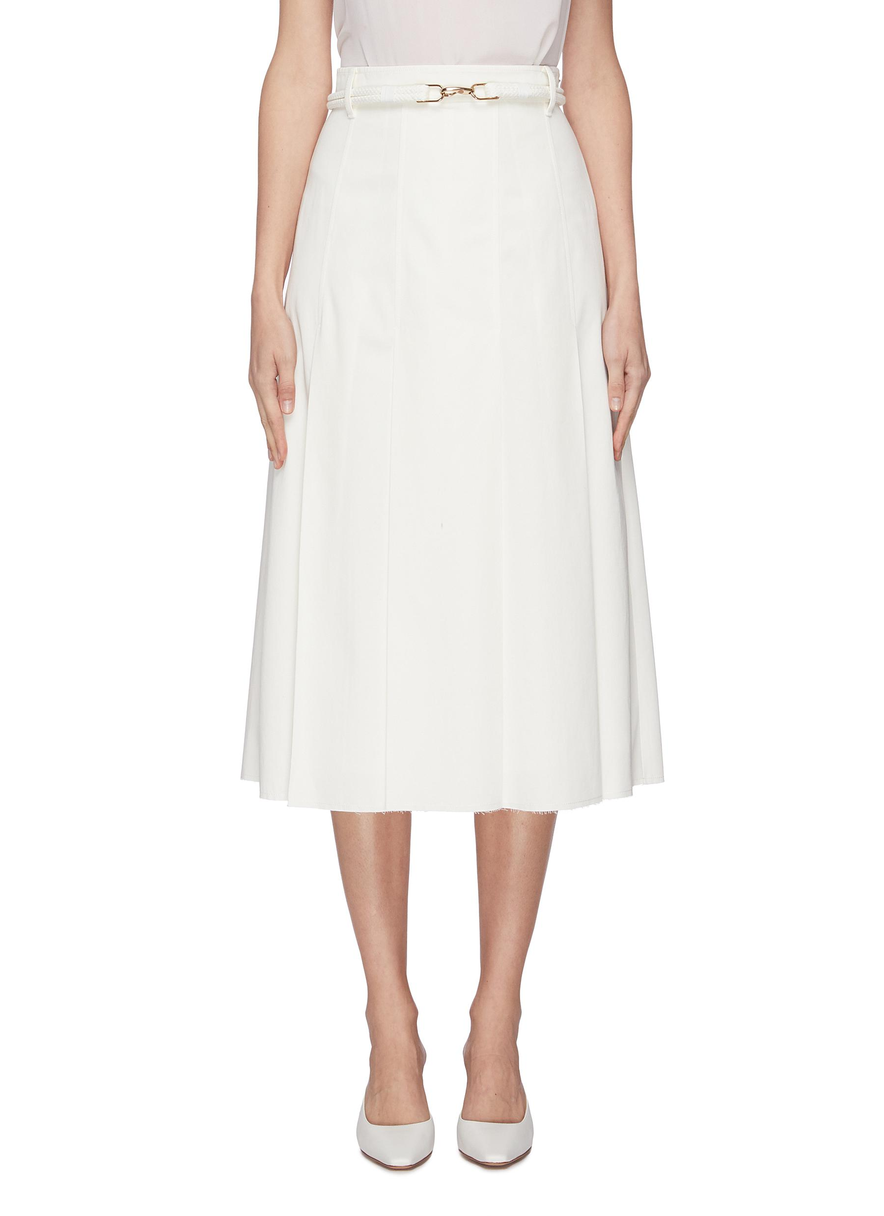 Buy Gabriela Hearst Skirts 'Herbert' rope belted pleated skirt