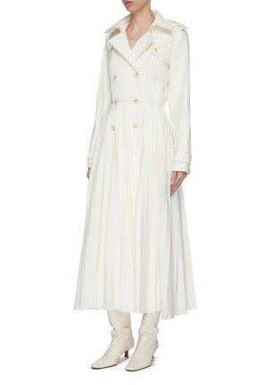 Detail View - Click To Enlarge - GABRIELA HEARST - 'Stein' double breasted pleated trench coat