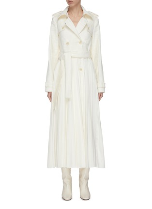 Main View - Click To Enlarge - GABRIELA HEARST - 'Stein' double breasted pleated trench coat