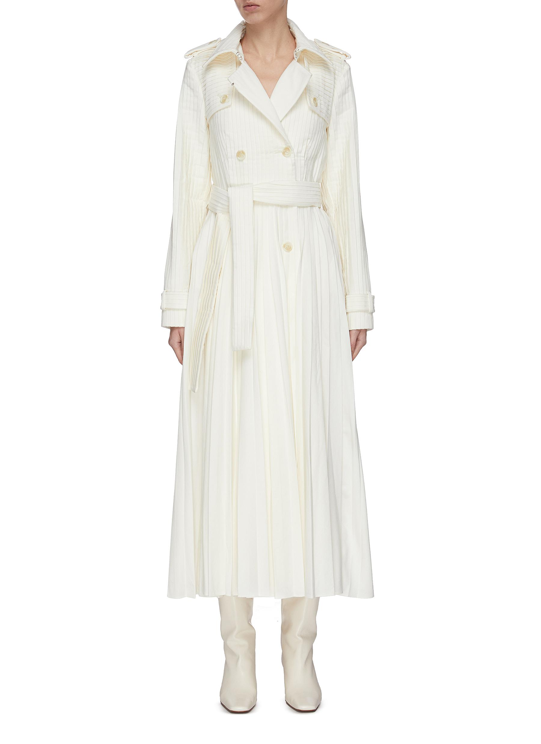 shop Gabriela Hearst 'Stein' double breasted pleated trench coat online