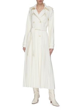 Figure View - Click To Enlarge - GABRIELA HEARST - 'Stein' double breasted pleated trench coat
