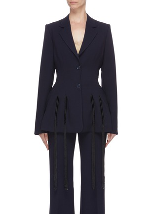 Main View - Click To Enlarge - GABRIELA HEARST - 'Maurice' fringe blazer