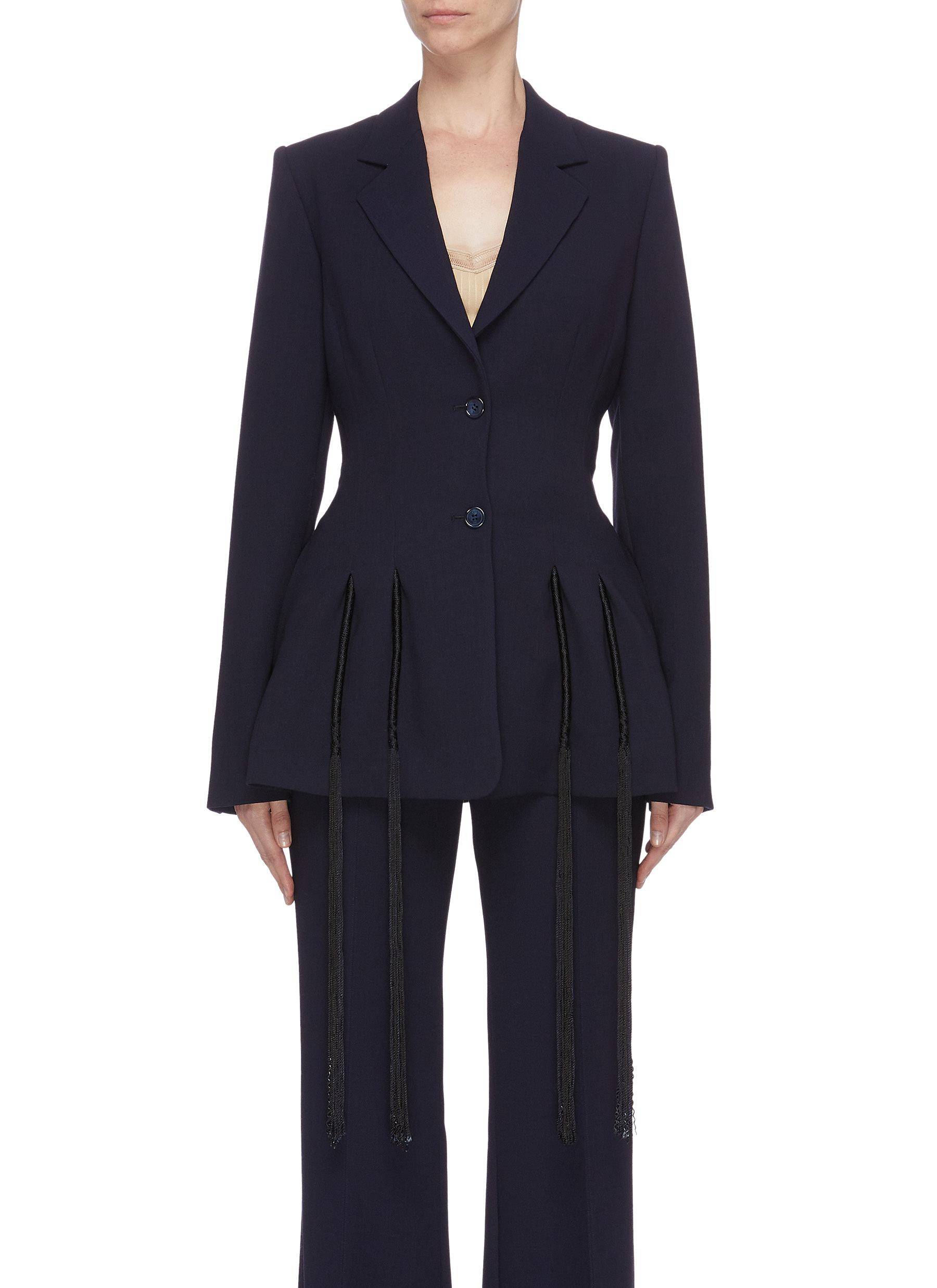 shop Gabriela Hearst 'Maurice' fringe blazer online