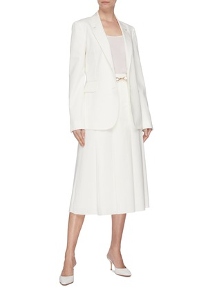 Figure View - Click To Enlarge - GABRIELA HEARST - 'Sophie' notched lapel blazer