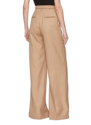 Back View - Click To Enlarge - GABRIELA HEARST - 'Vargas' belted wide leg pants