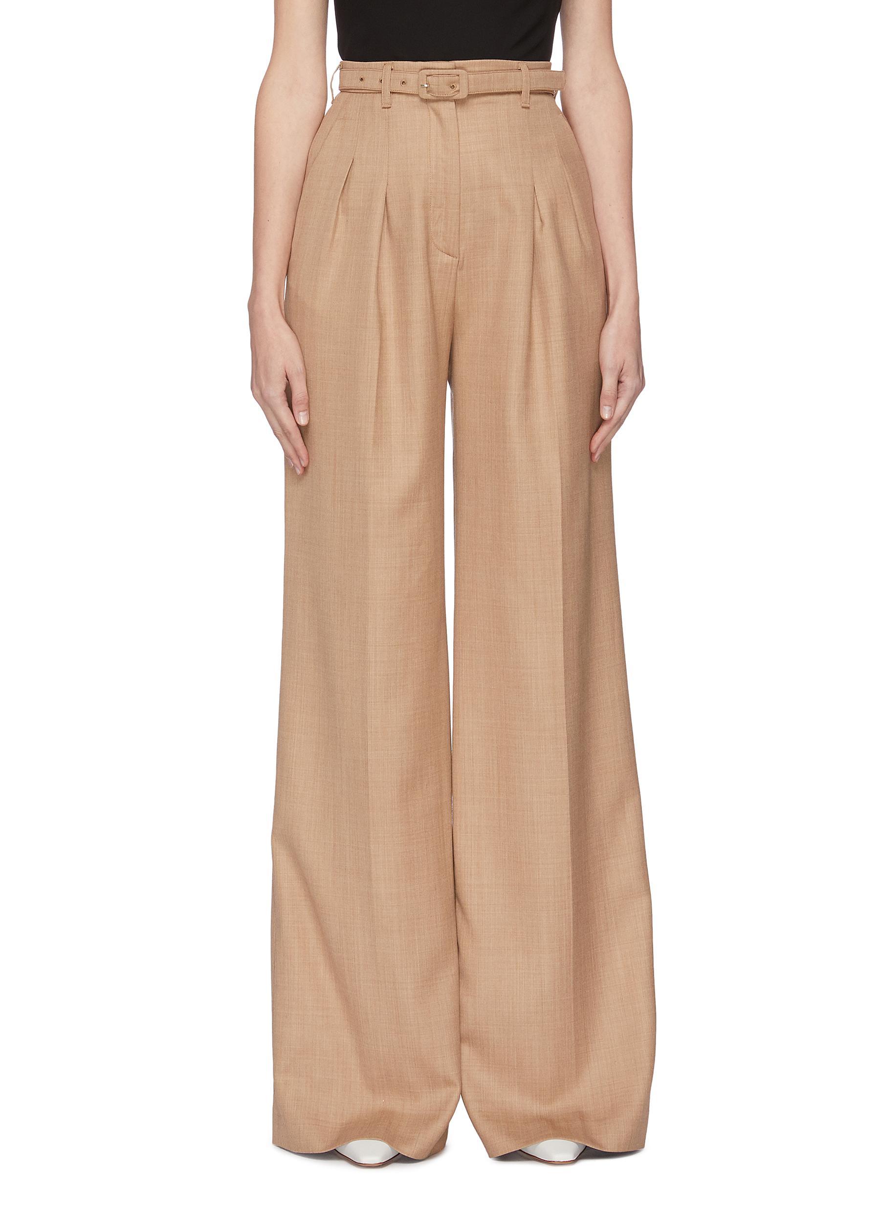 Buy Gabriela Hearst Pants & Shorts 'Vargas' belted wide leg pants