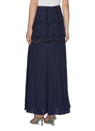 Back View - Click To Enlarge - GABRIELA HEARST - 'Aloe' herringbone panelled skirt