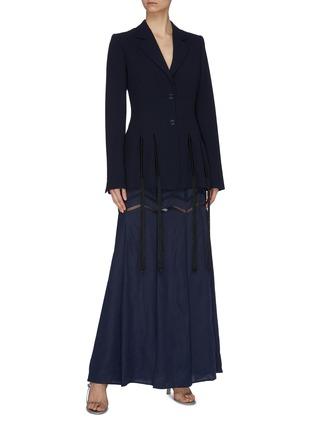 Figure View - Click To Enlarge - GABRIELA HEARST - 'Aloe' herringbone panelled skirt