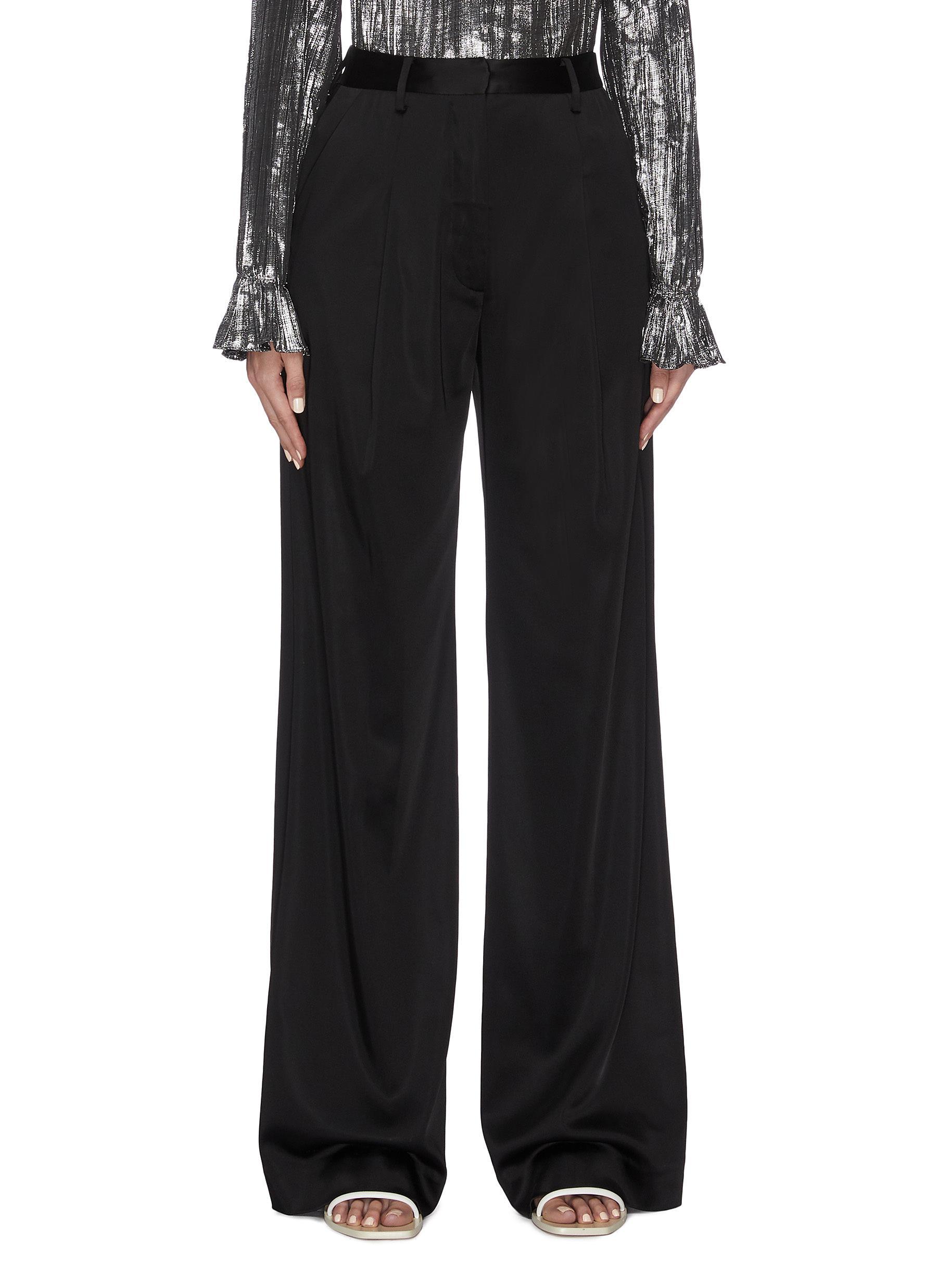 shop Jonathan Simkhai Satin wide leg pants online