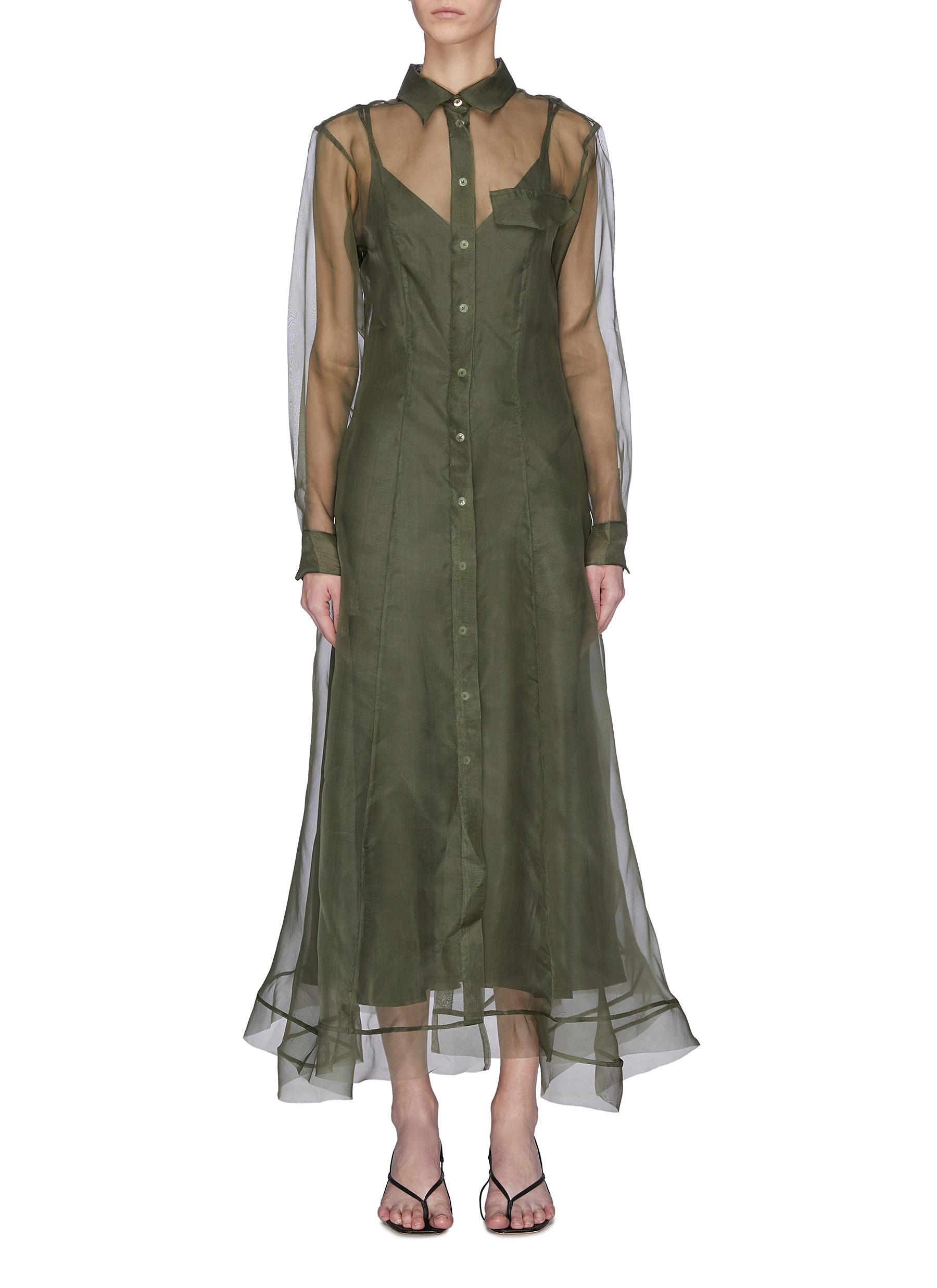 Buy Maggie Marilyn Dresses 'Keep it together' sheer panel shirt dress