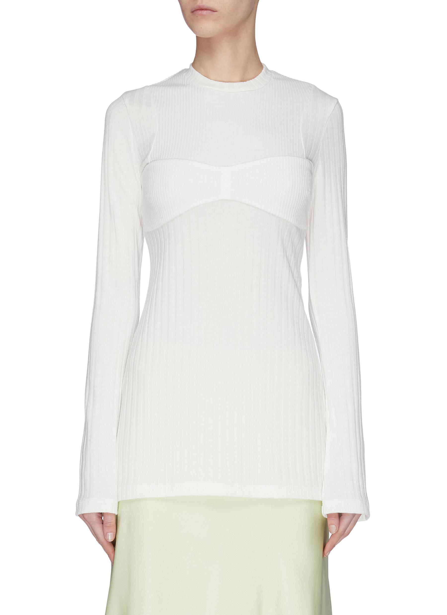 Buy Maggie Marilyn Knitwear 'I'm All In' panelled rib knit top