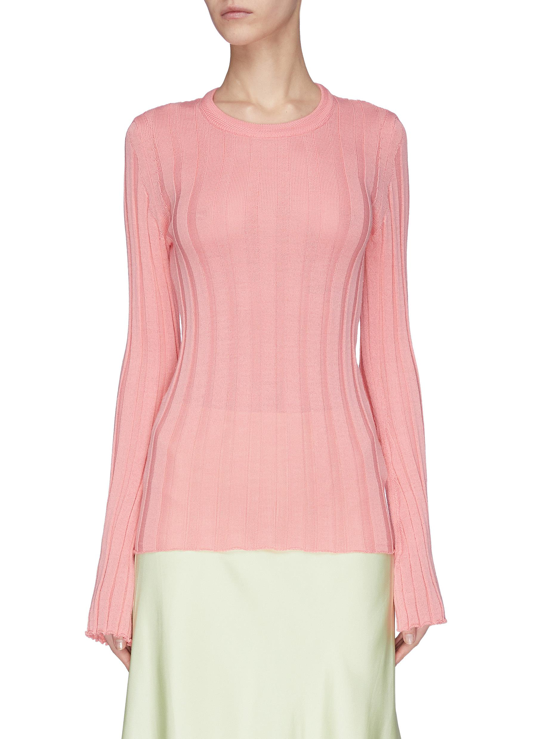 Buy Maggie Marilyn Knitwear 'The Sherbet' rib knit top