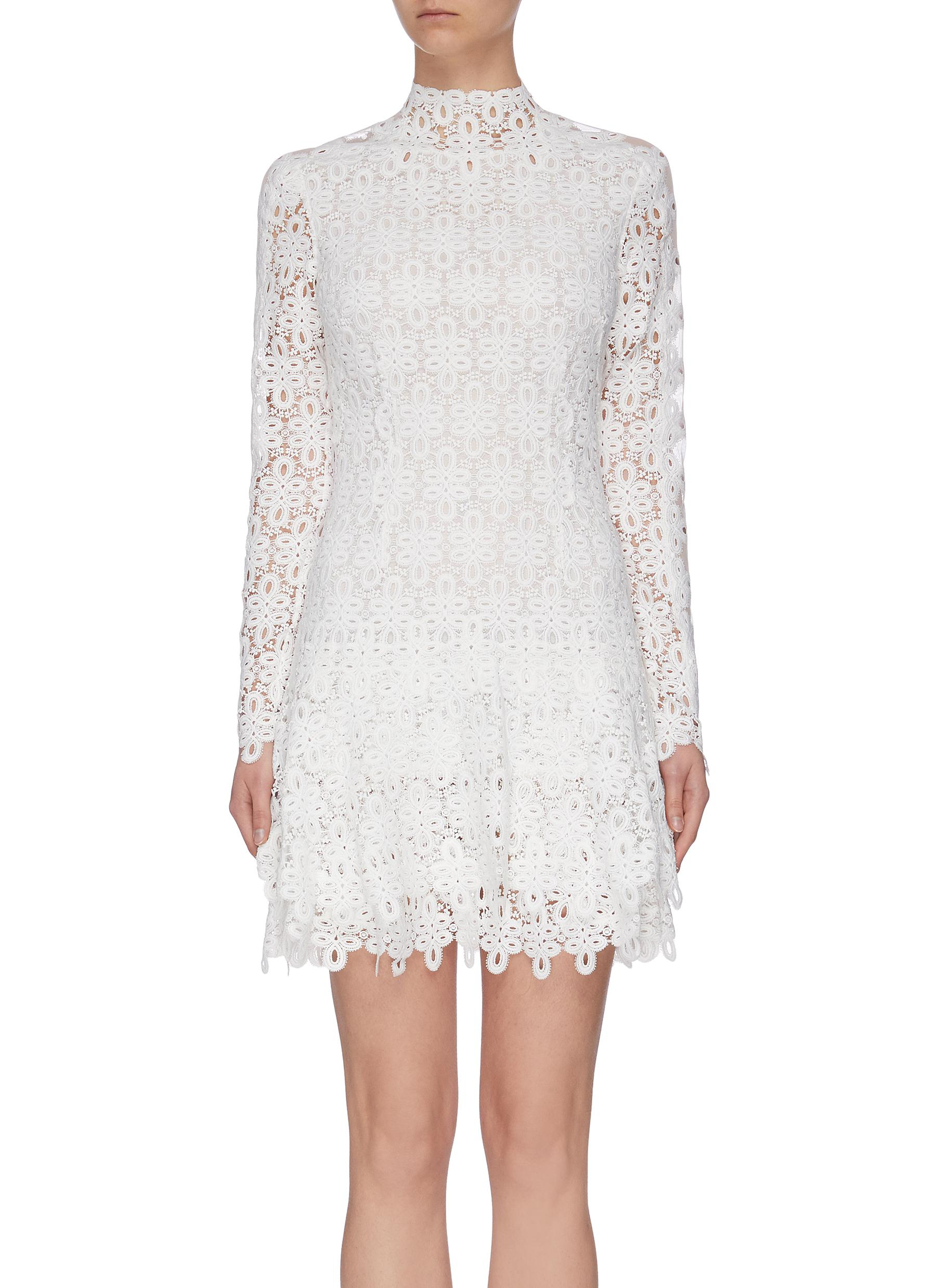 shop Jonathan Simkhai 'Guipure' lace mini dress online