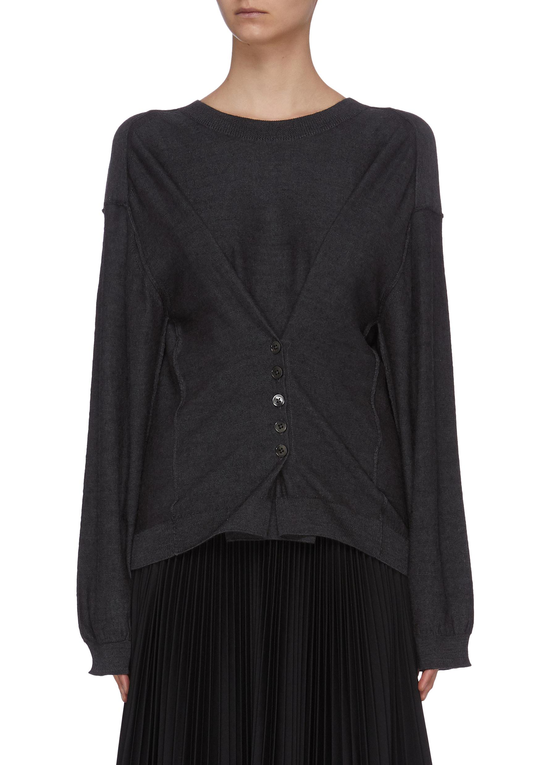 shop Lemaire Drape Effect Sweater online