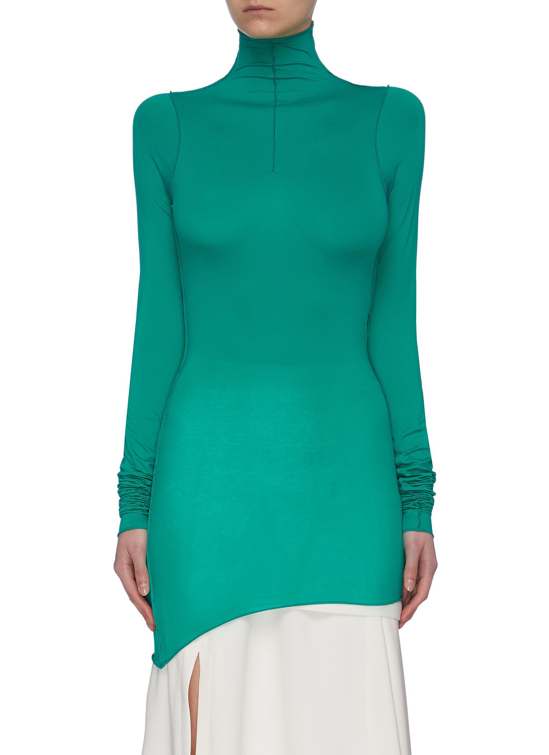 shop Lemaire Gathered Sleeve Second Skin Turtleneck Top online
