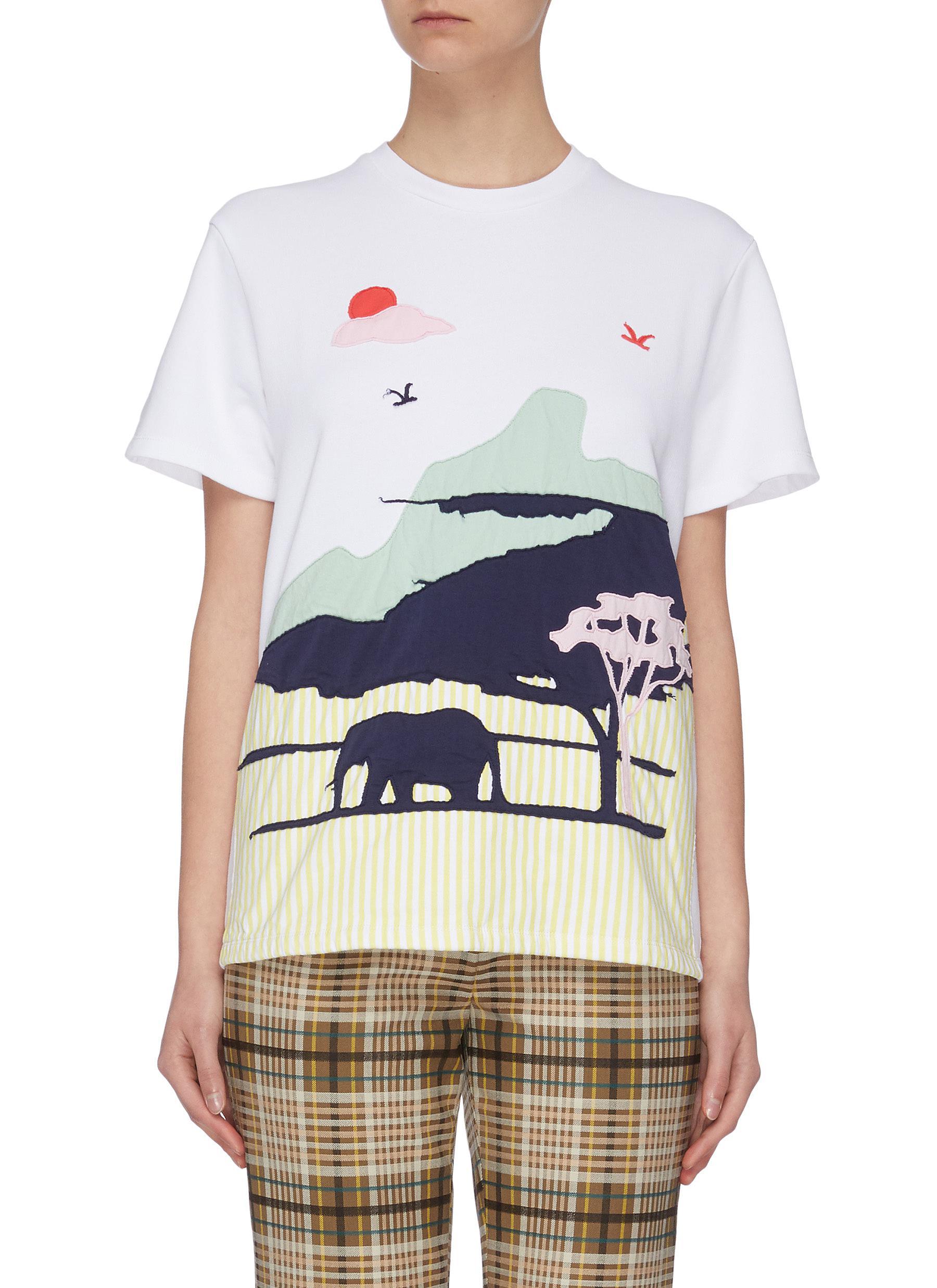 shop Mira Mikati Safari paneled T-shirt online